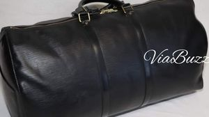 Authentic LOUIS VUITTON KEEPALL 55 IN EPI LEATHER